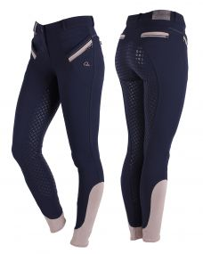 Breeches Bliss anti-slip full seat Navy 48
