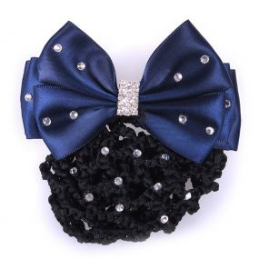 Hair bow Chique Black/navy