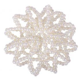 Hair net Pearl White