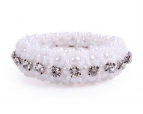 Hair scrunchie Diamond White