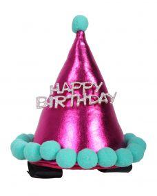 Birthday hat horse Fuchsia