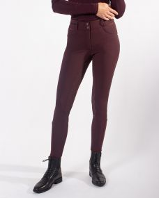 Breeches Diamond anti-slip full seat Wine red 48
