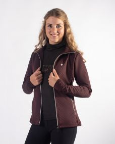 Sweat jacket Diamond Wine red 44