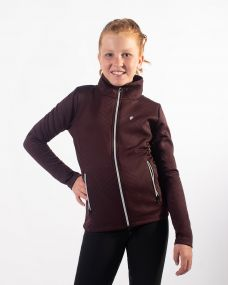 Sweat jacket Diamond Junior Wine red 176