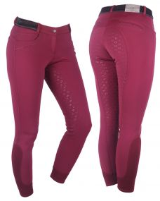Breeches softshell Alexa anti-slip full seat Burgundy 34