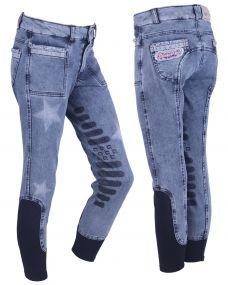 Breeches Rosanne Junior leg grip Blue 176