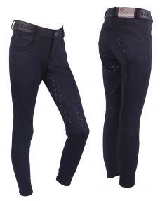 Breeches softshell Alexa Junior anti-slip fullseat Black 176