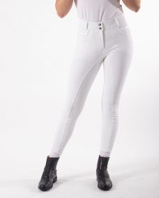 Breeches Liva anti-slip full seat White 44
