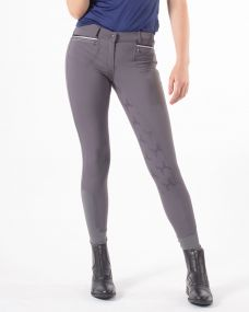 Breeches Zofia anti-slip full seat Steel grey 44