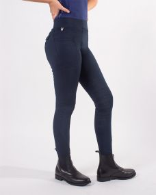 Breeches pull-on Phylicia Junior leg grip Navy 176