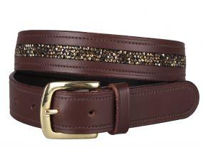 Belt Lupine Brown/beige 95cm